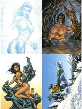 Michael Turner's Fathom Promo Card Uncut Sheet of 4 P1-P4 2001 Dynamic Forces