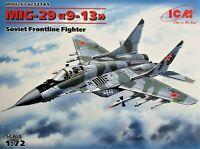 """ICM 1/72 scale plastic model kit   Mig-29 """"9-13"""" - Fulcrum C.  ICM72141"""