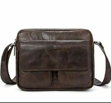 Male Solid Handbags Flap Casual Totes Cross-body Bags Soft Leather Shoulder Bag