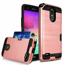For LG G8 G7 V50 V40 ThinQ V30 G6 Rugged Armor Card Pocket Wallet Case Cover