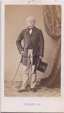 Homme au chapeau par Trinquart Paris Mode France Cdv Vintage albumine ca 1860