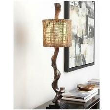 Cast iron rusticprimitive table lamps ebay weathered driftwood table lamp brown 40 rustic twine shade coastal decor light aloadofball Gallery