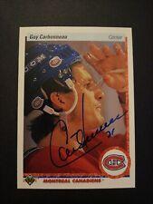1990-91 Upper Deck Guy Carbonneau Canadiens Auto Autographed Signed Card