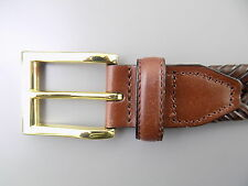 """Club Room $55 Brown MEN SIZE 35-36 WIDTH 1.25"""" CASUAL DEFECT BELT BRAIDED D12"""