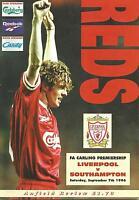 Football Programme - Liverpool v Southampton - Premiership - 7/9/1996