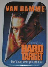 """1993 Jean Claude Van Damme """"Hard Target"""" Promotional Movie Pin 1.75"""" x 2.75"""""""