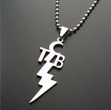 TCB NECKLACE Stainless Steel Pendant Charm Taking Care of Business Elvis Motto