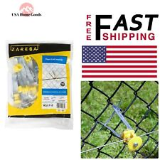 Yellow Chain Link Fence (10 Pieces) Outdoor Farms Electric Wire Insulator