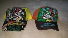 Ed Hardy Trucker Hat - Choice - Black/Yellow New York City, Brown/Orange Dragon