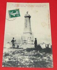 CPA CARTE POSTALE 1905-1910 MONUMENT BATAILLE DE CRAONNE 1814 AISNE PICARDIE