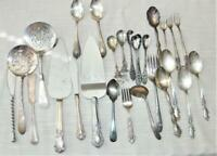 Lot of Silver Plated Flatware and Serving Pieces - 27 pieces