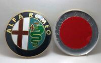 2x Delantero Trasero Insignia emblema 74mm se adapta a ALFA ROMEO GT Giulietta