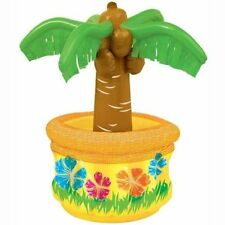 "INFLATABLE PALM TREE COOLER 26"" DRINK BAR SPA POOL DECORATION PARTY HAWAIIAN"