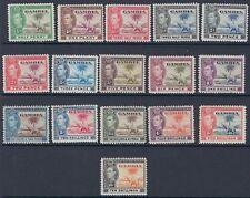 GAMBIA :1938 GVI  definitive set 1/2d-10/-  SG 150-161 mint( 5d -10/-MNH)