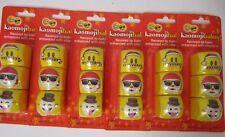6 Kaomojibalms Christmas Packs Frosted Mint, Vanilla & Coconut Exp 8/20 Jm 1242