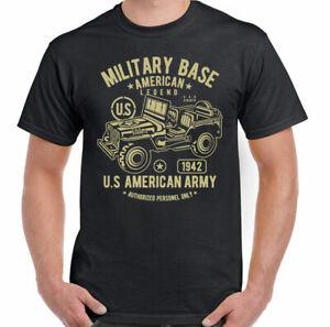 Military Base American Legend Mens Military T-Shirt US Army America USA