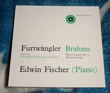 BRAHMS / FURTWANGLER PIANO CONCERT NO 2. UK LP UNICORN UNI 102 EDWIN FISCHER