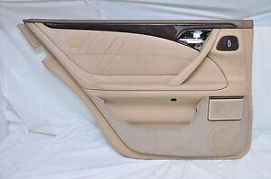 2001 MERCEDES BENZ E430 REAR LEFT DRIVER SIDE DOOR TRIM PANEL OEM