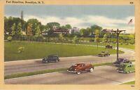 Brooklyn, NEW YORK CITY - Fort Hamilton -  old cars, Belt Parkway