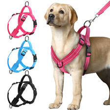 No Pull Reflective Dog Harness With Front Clip Adjustable Mesh Padded Vest S/M/L