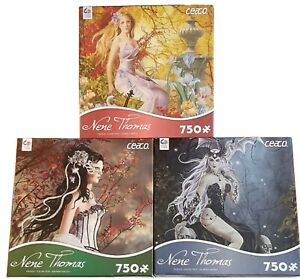 Nene Thomas -750pc Puzzles-Mad Queen, Aveliad in Autumn, Melody Lost BUNDLE!