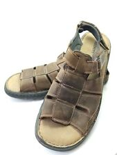 Skechers Sports Sandals Men's Sz 13m Brown Leather Buckled (tu34ep)