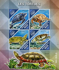 Niger 2015 MNH Turtles 4v M/S Reptiles Tortues Leatherback Sea Turtle