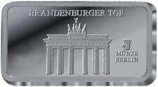 BRANDENBURGER TOR / BERLIN - 999 SILBER - SILBERBARREN - GESCHENK IDEE - SELTEN