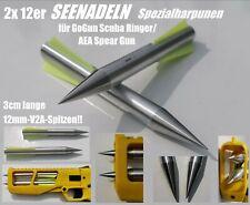 2x SEENADELN, Harpunen mit V2A-Spitzen für GoGun Scuba Ringer/AEA Spear Gun
