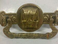 Single Vintage Solid Brass Egyptian Pharoah Sphinx king Tut Drawer Pull Handle