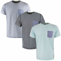 Mens T Shirt by Brave Soul Stripe Crew Neck Short Sleeve Casual Top S M L XL