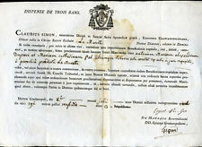 1884 Claudius Simon Evèque de Grenoble, Dispense de Trois bans