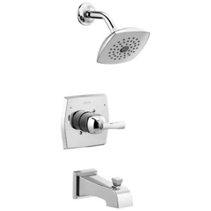 Delta Flynn Chrome 1-handle Bathtub and Shower Faucet with Valve 144768C