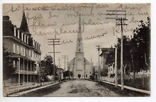 CANADA carte postale ancienne QUEBEC RIVIERE DU LOUP La rue de l'église