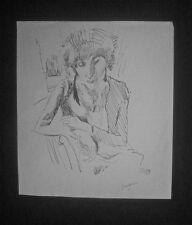 PASCIN : dessin encre U.S.A. 1916 portrait d'Hermine David /certif authenticité/