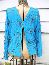 CHICO'S Cherish Ratu Jacket Pacific - sz 1 - New with Tags 148$ retail - dressy