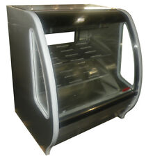 "Torrey 40"" Prokold Curved Glass Stainless Deli Bakery Display Case Refrigerated"