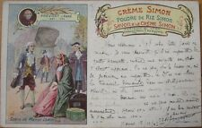 1903 French Perfume/Soap Advertising Postcard: 'Creme Simon, Poudre de Riz'