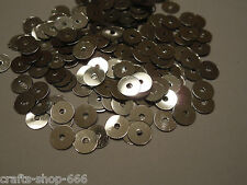 200 Pailletten  Silber  ca: 6mm - Glatt  Neu #1 Basteln