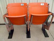 Tiger Stadium seats - ORANGE - Unrefurbished, Authentic w/ COA