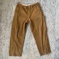 Vintage 60s Brown 34x28 Water Repellent Outdoor Adventures Pants Hunting