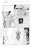 Titan AE, Original Comic Art by Al Rio, Dark Horse, Disney, Aliens, Spaceship