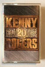 Kenny Rogers 20 Great Years Cassette Tape Vintage