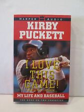 KIRBY PUCKETT I LOVE THIS GAME MY LIFE AND BASEBALL Book on 2-Cassettes