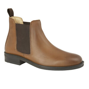 WIDE FITTING CHELSEA DEALER BOOTS TAN BROWN FULFIT