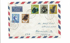 1969 Leipzig Germany DDR airmail cover Warminster PA gems skiing olympics