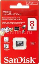 8G SanDisk MicroSDHC Micro SD SDHC 8GB TF Scheda Di Memoria Class 4 Al dettaglio