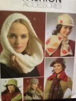 McCalls Sewing Pattern 5541 Ladies / Misses Hat Scarves & Mittens One Size Uncut