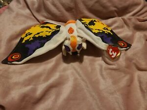 TY 2001 Original Japanese Issue Beanie Baby MOTHRA NEW! Free Shipping (USA ONLY)