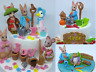 Peter Rabbit Friend Handmade Edible Birthday Baby Shower Christening Cake Topper